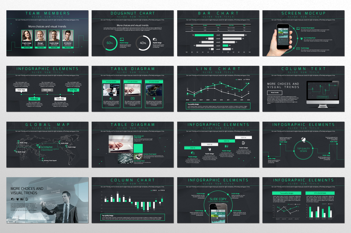 Network PowerPoint Template example image 2