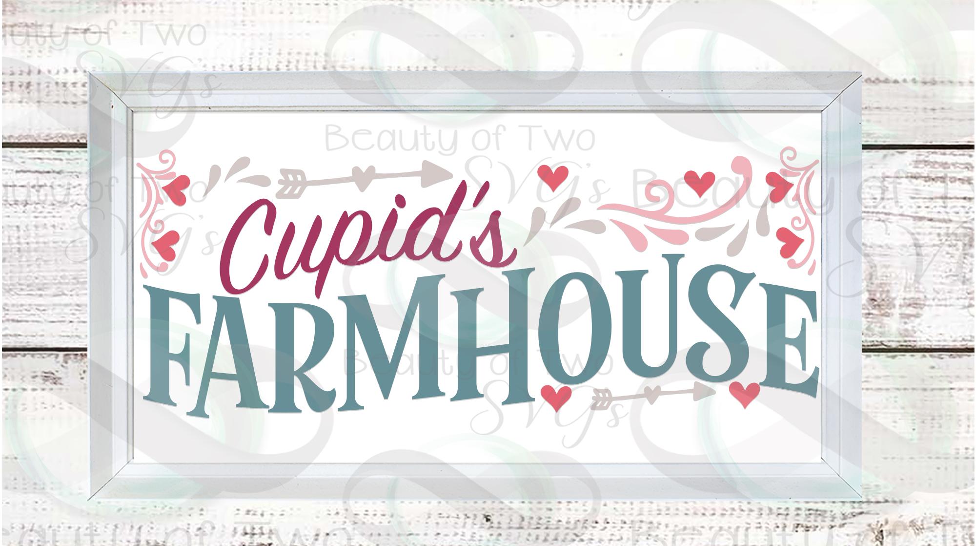 Farmhouse Valentines Svg Sign Bundle, 6 Valentine svgs example image 6