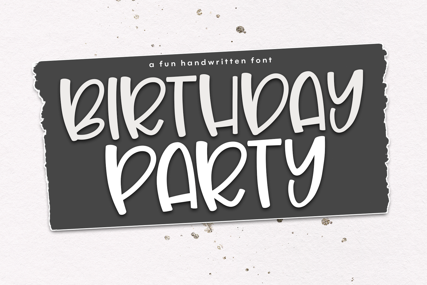 Birthday Party - A Cute & Quirky Handwritten Font example image 1