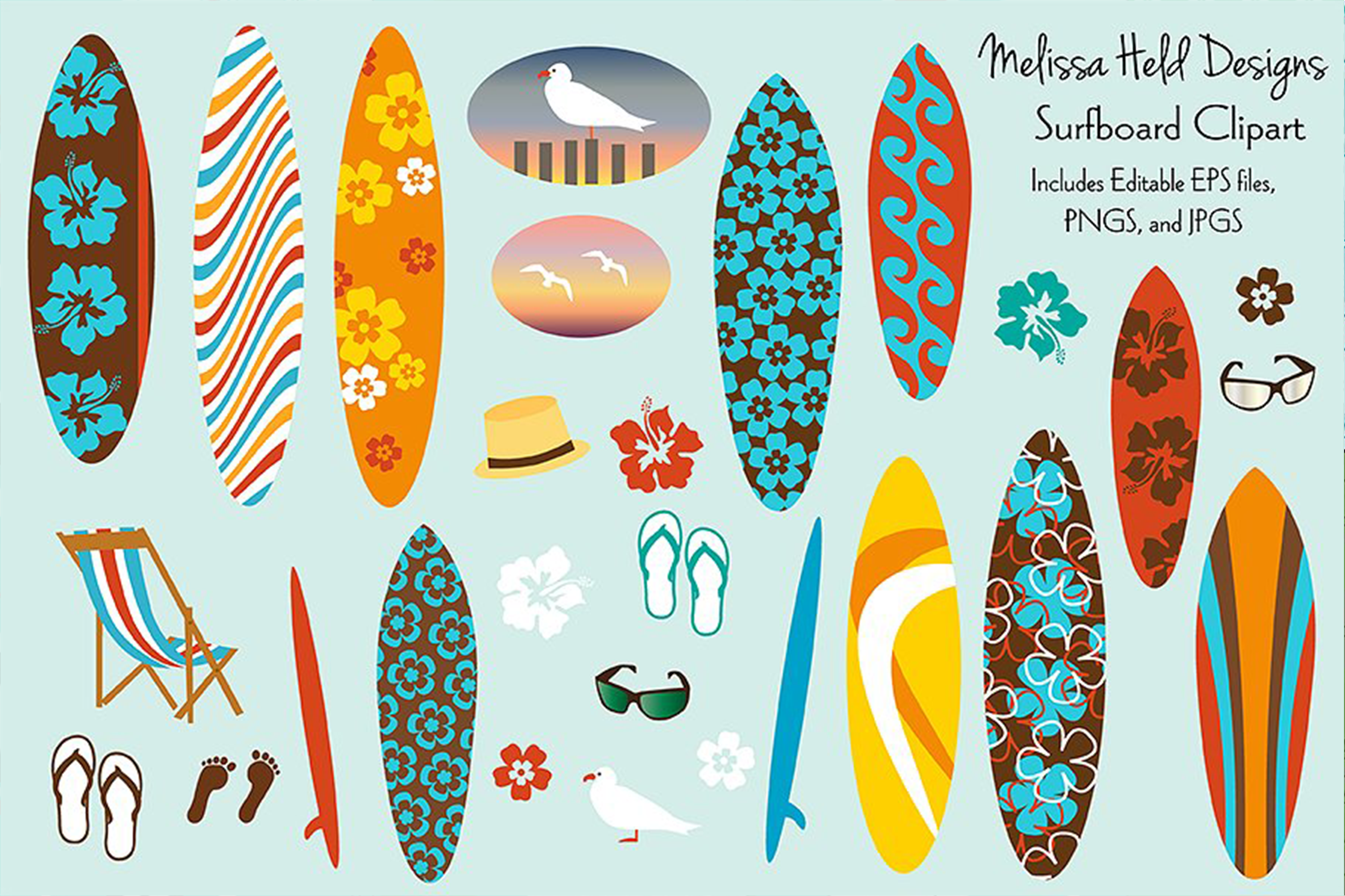 Surfboard Clipart example image 1