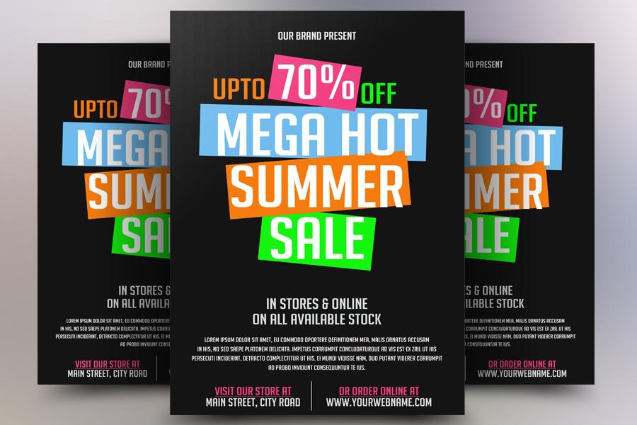 Mega Hot Sale Flyer example image 1