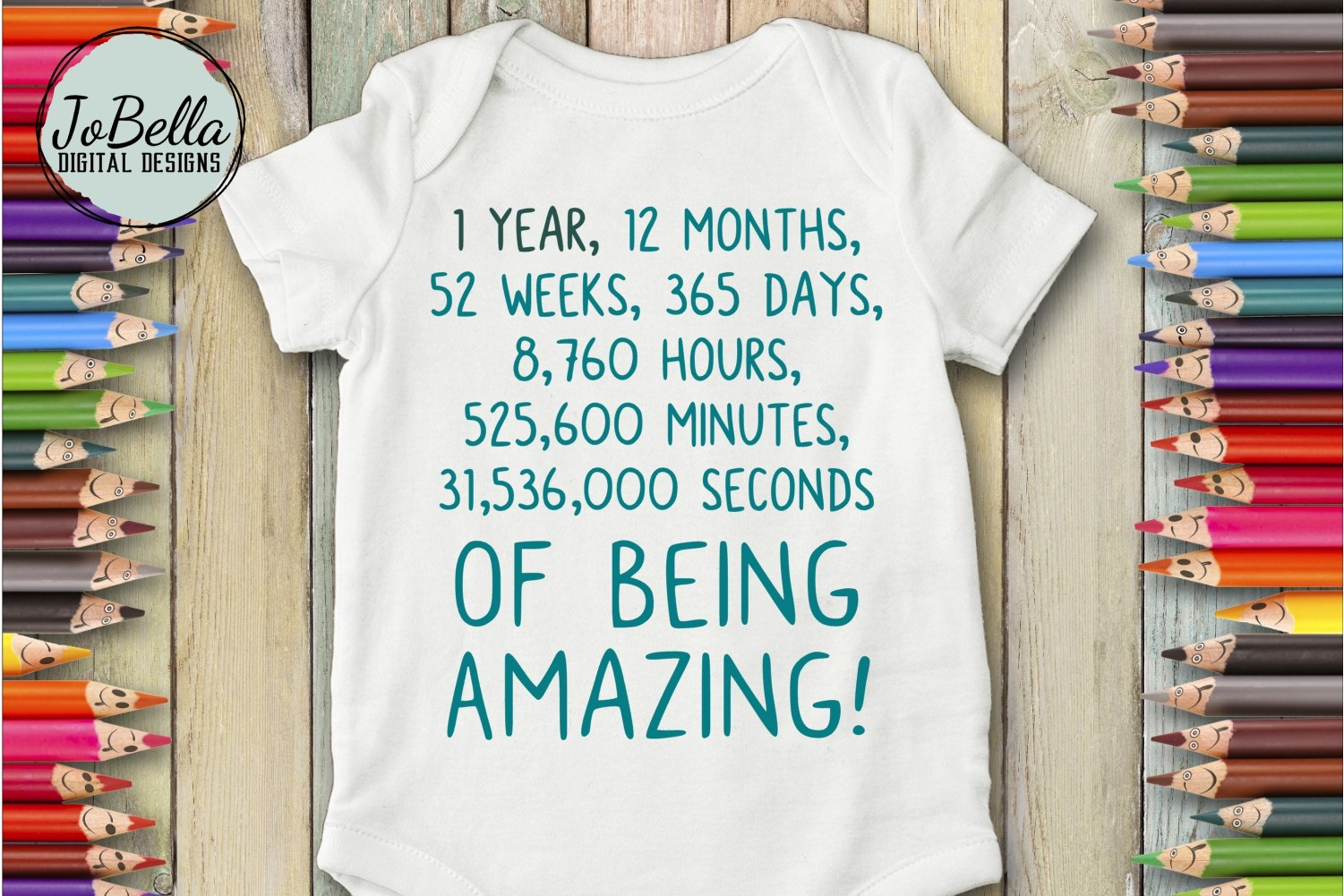 First Birthday Baby SVG and Sublimation PNG example image 1