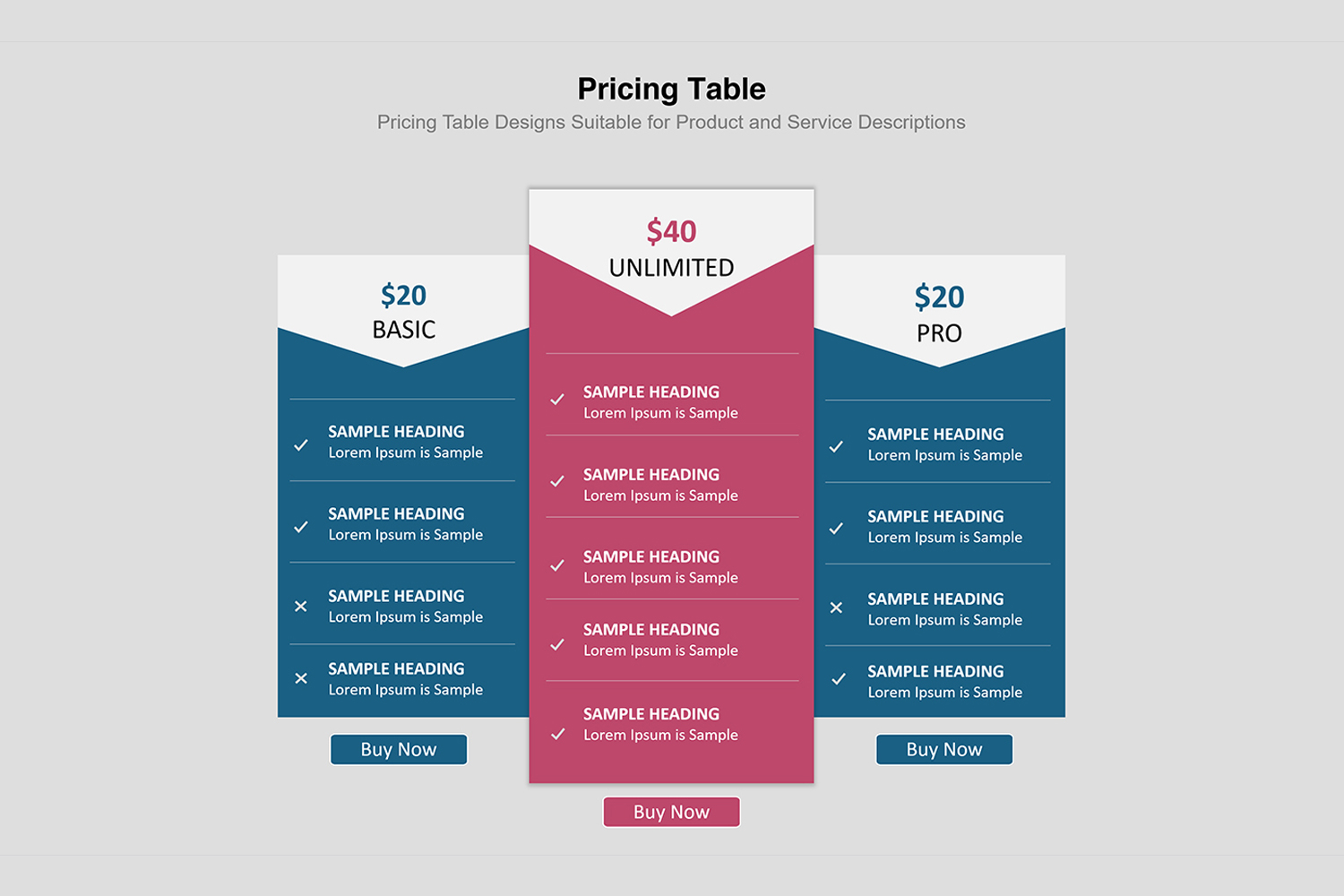 price table infographic presentation