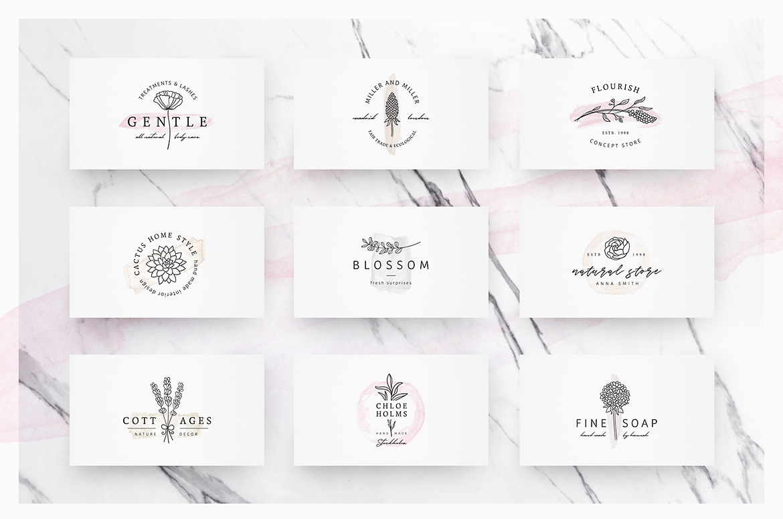 So Flowery Branding Kit + Watercolours example image 8