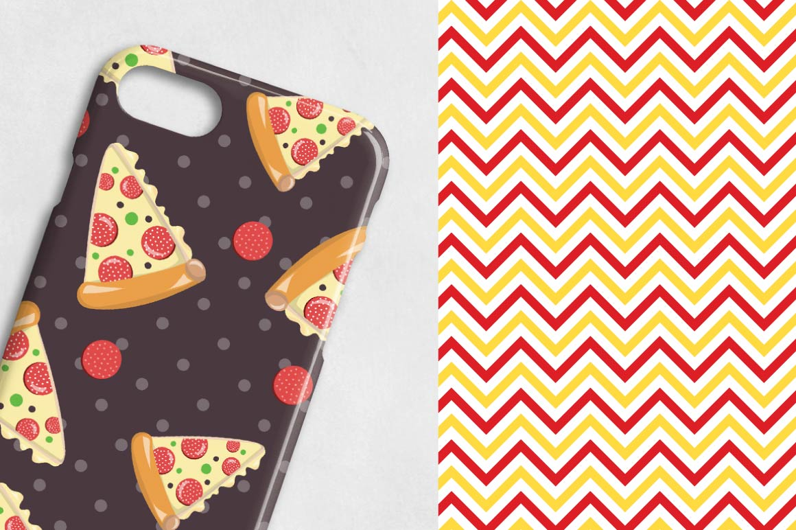 PIZZA-PARTY, digital papers example image 4
