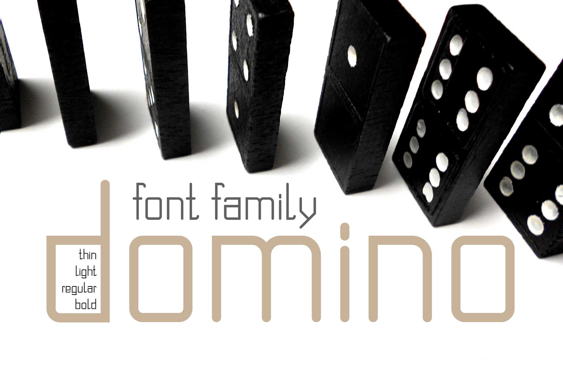 Domino font family  example image 1