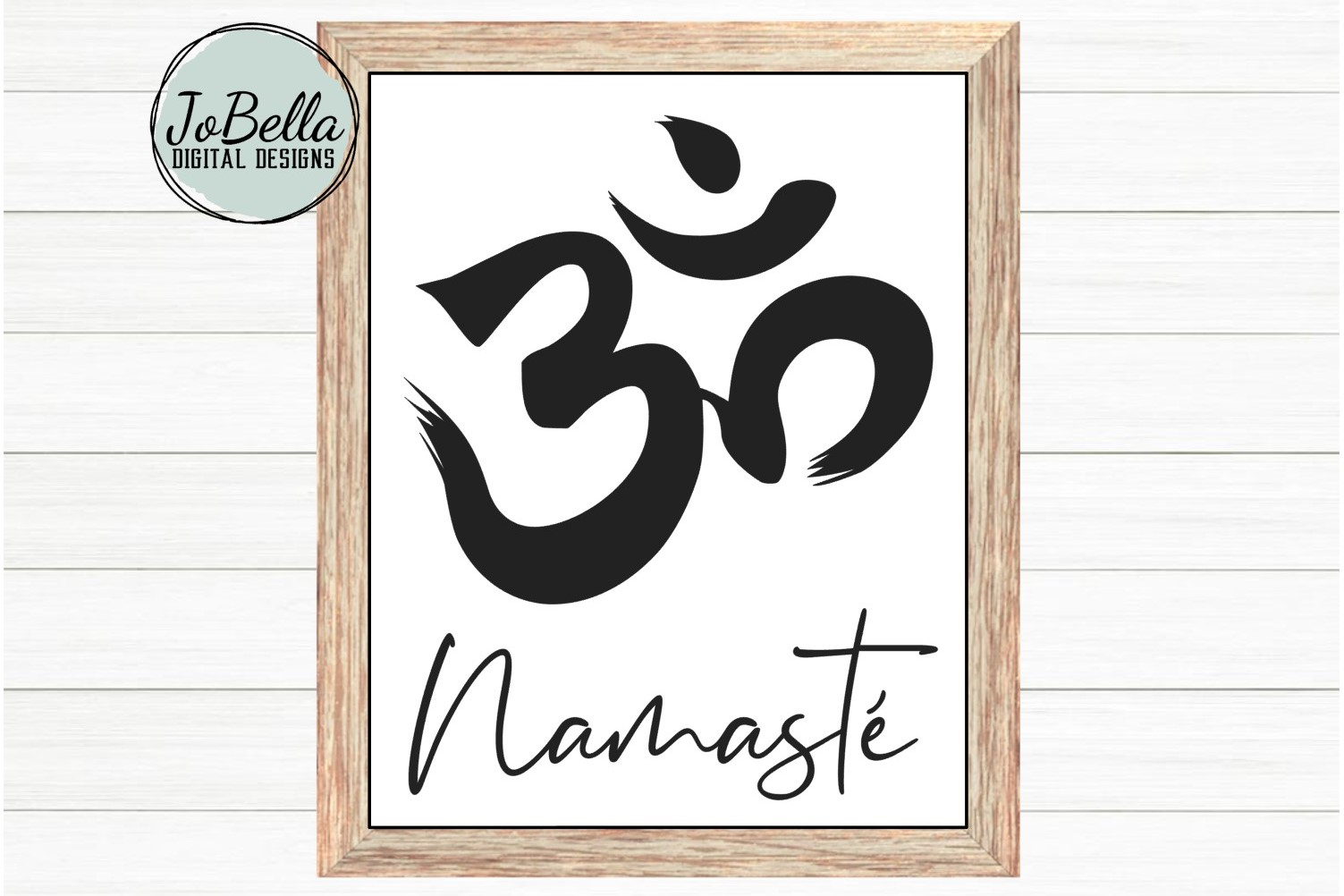 Om With Namaste SVG, Sublimation PNG & Printable Boho Design example image 2