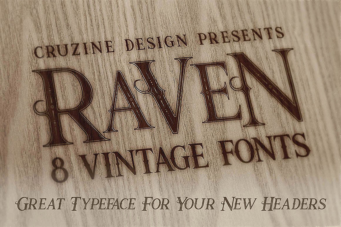 Raven Typeface example image 4