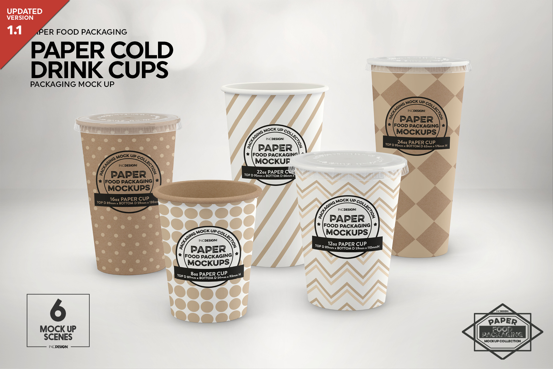 Paper Drink Cups Packaging Mockup example image 1
