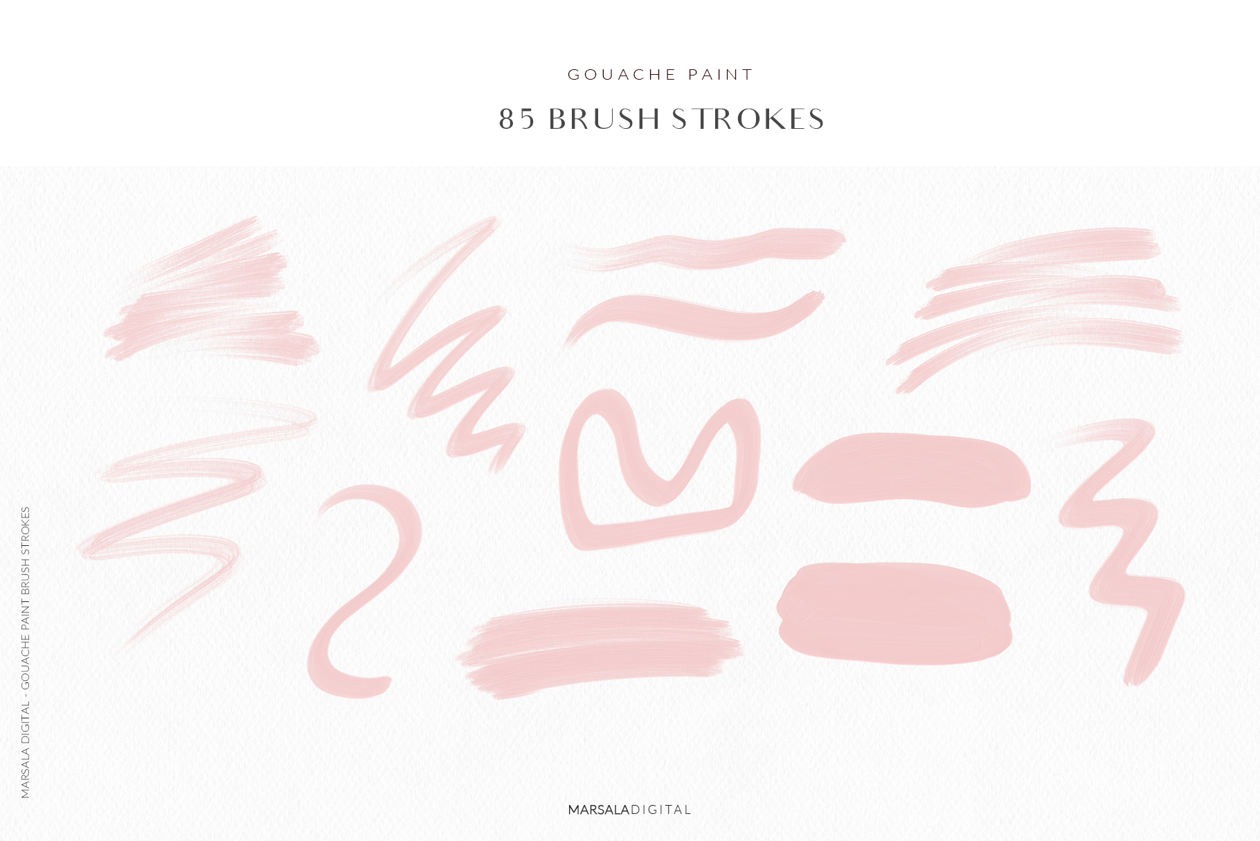 Blush Pink Brush Strokes Clipart example image 4