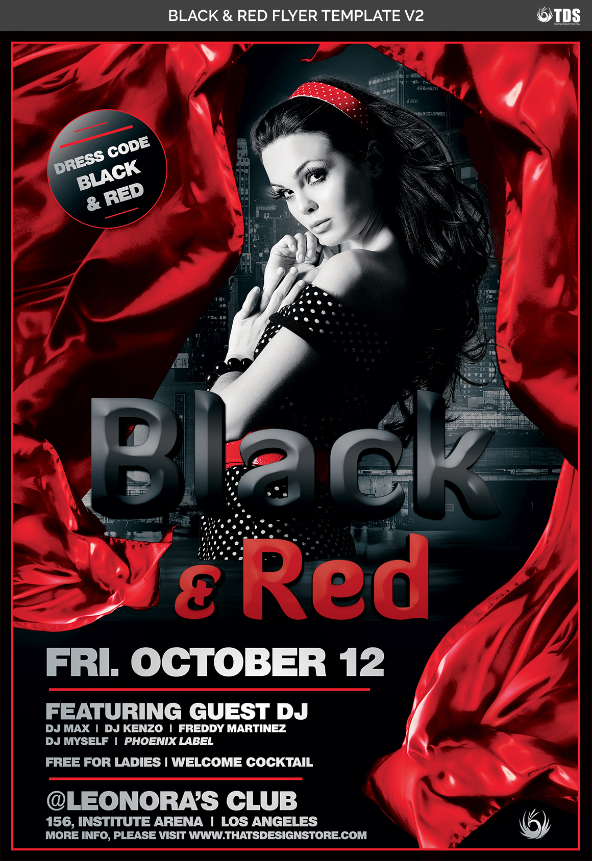 Black and Red Flyer Template V2 example image 4