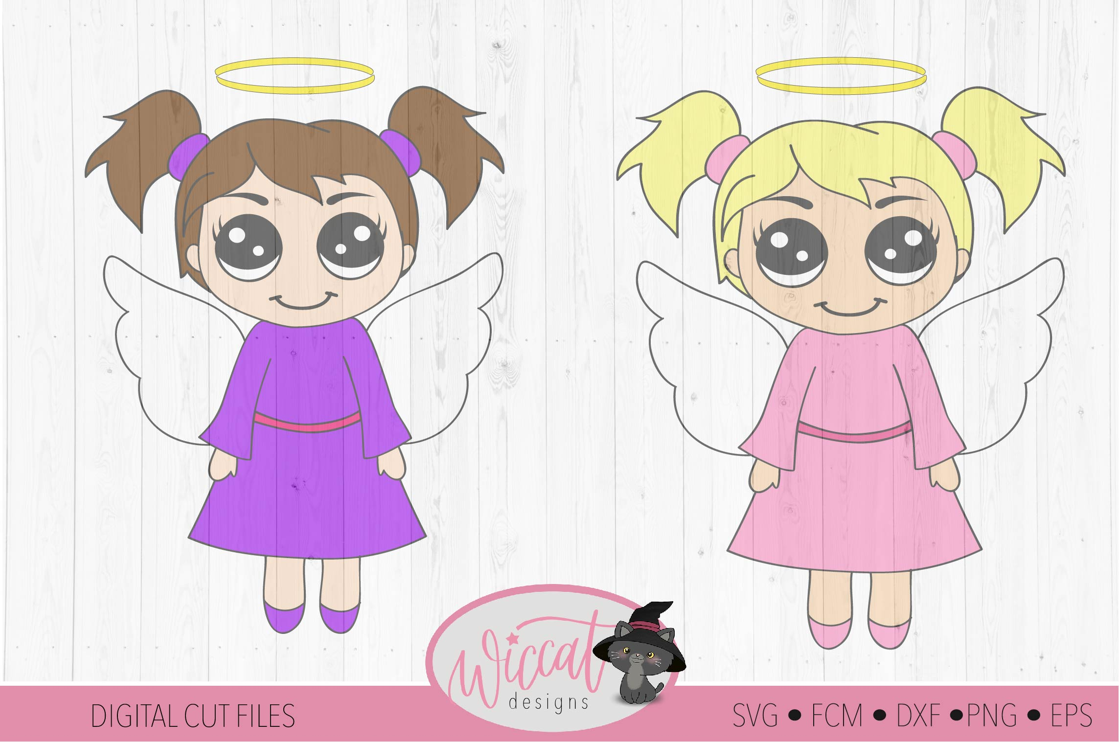 Three little angels, Angel bundle, Kawaii angel, Cute angel example image 5