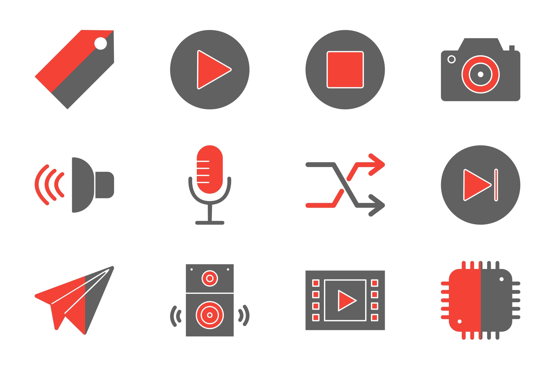 Set Of Multimedia Icons example image 1
