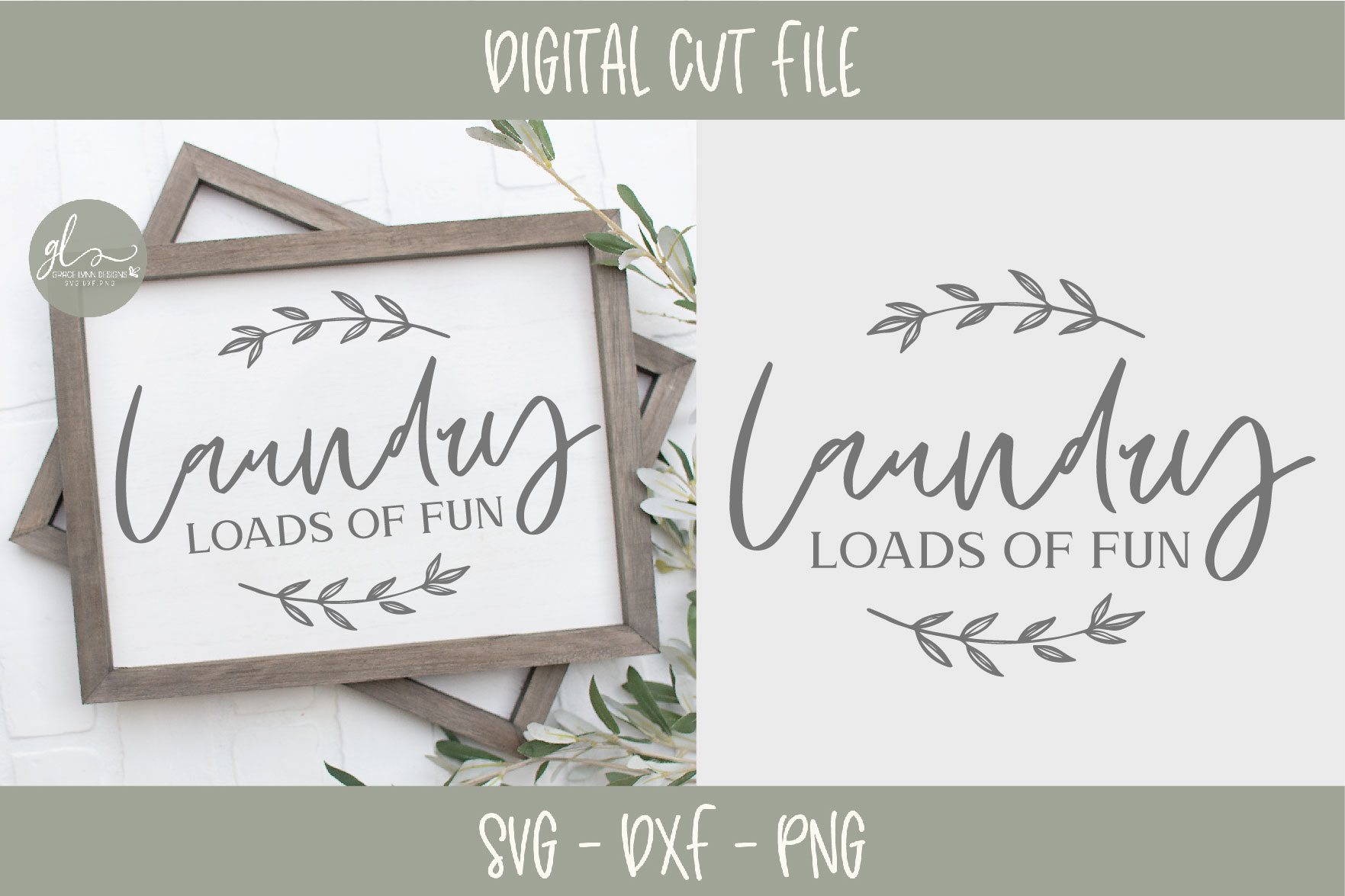 Laundry Sign Bundle - 20 Designs - SVG Cut Files example image 2