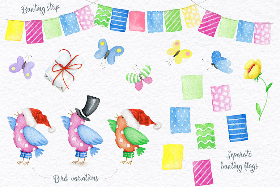 Watercolor Animals + BONUS example image 3