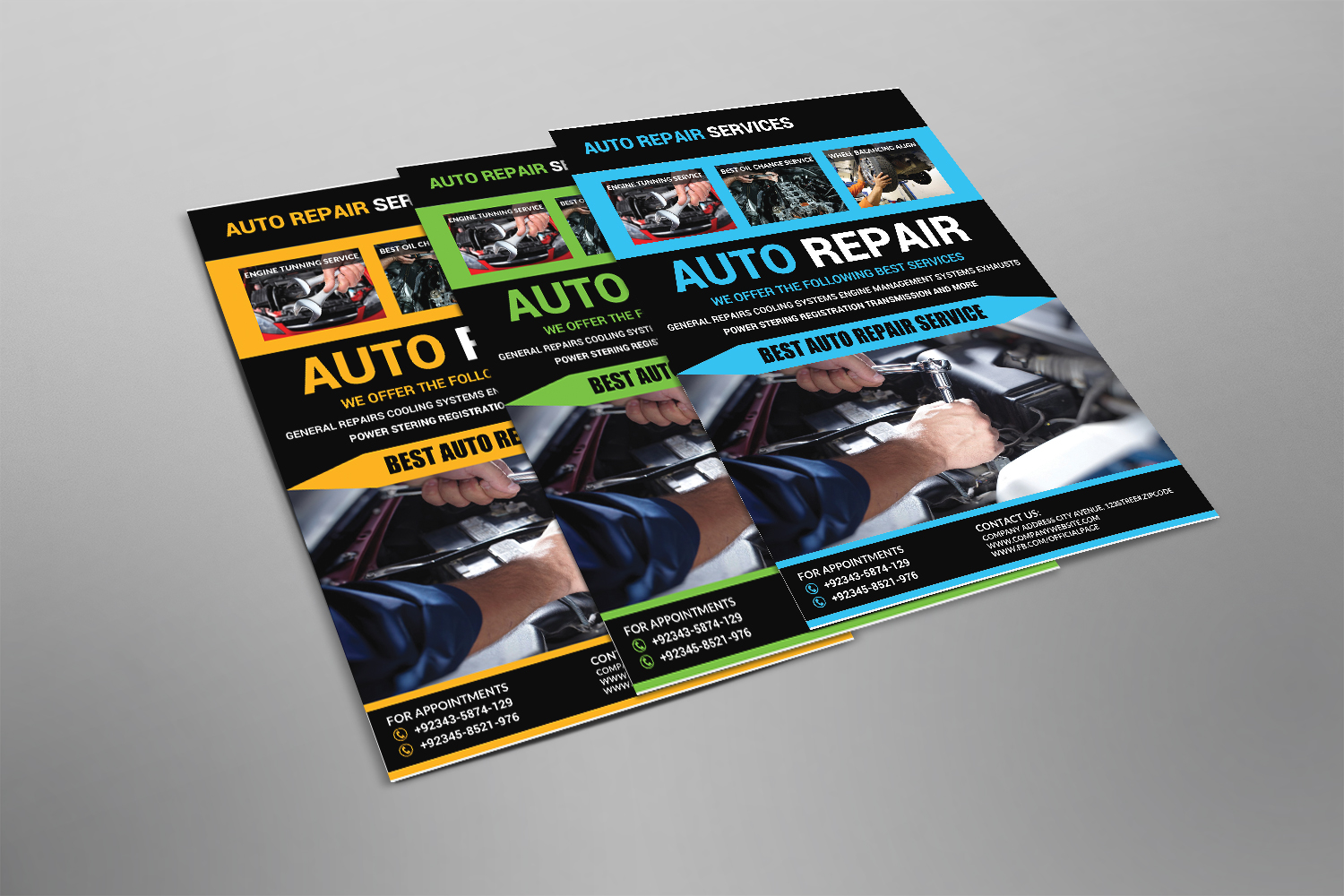 Auto Repair Flyer Design example image 2