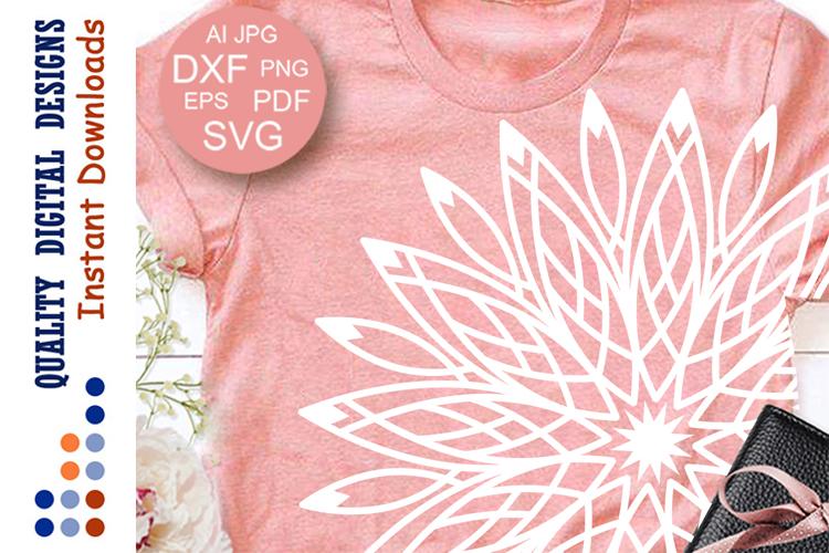 Mandala svg files Mandala Wall art digital Clipart T-shirt example image 1