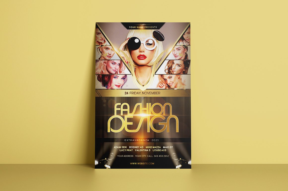 Fashion Design Flyer Template example image 2