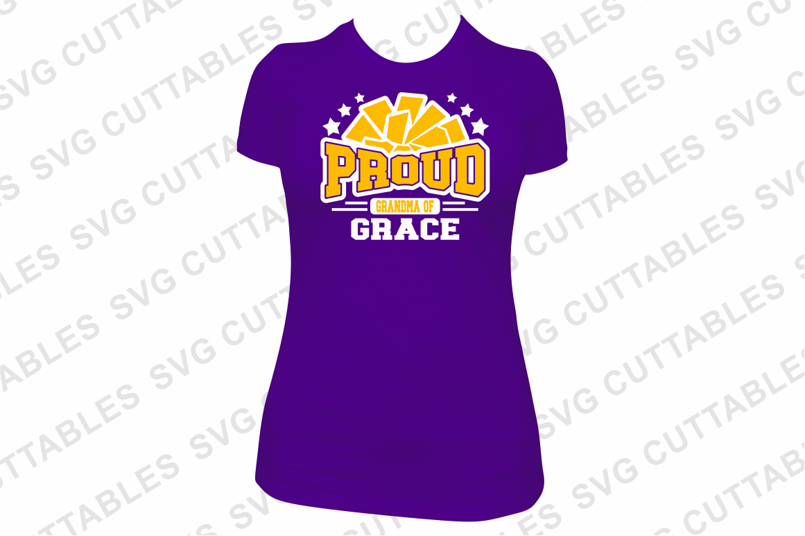 Proud Cheer   SVG Cut File example image 4