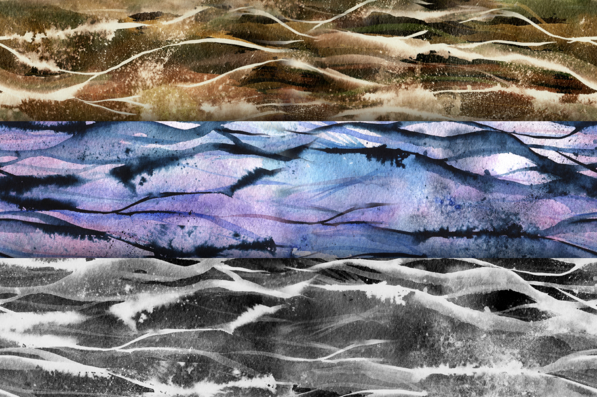 Watercolor seamless backgrounds example image 2