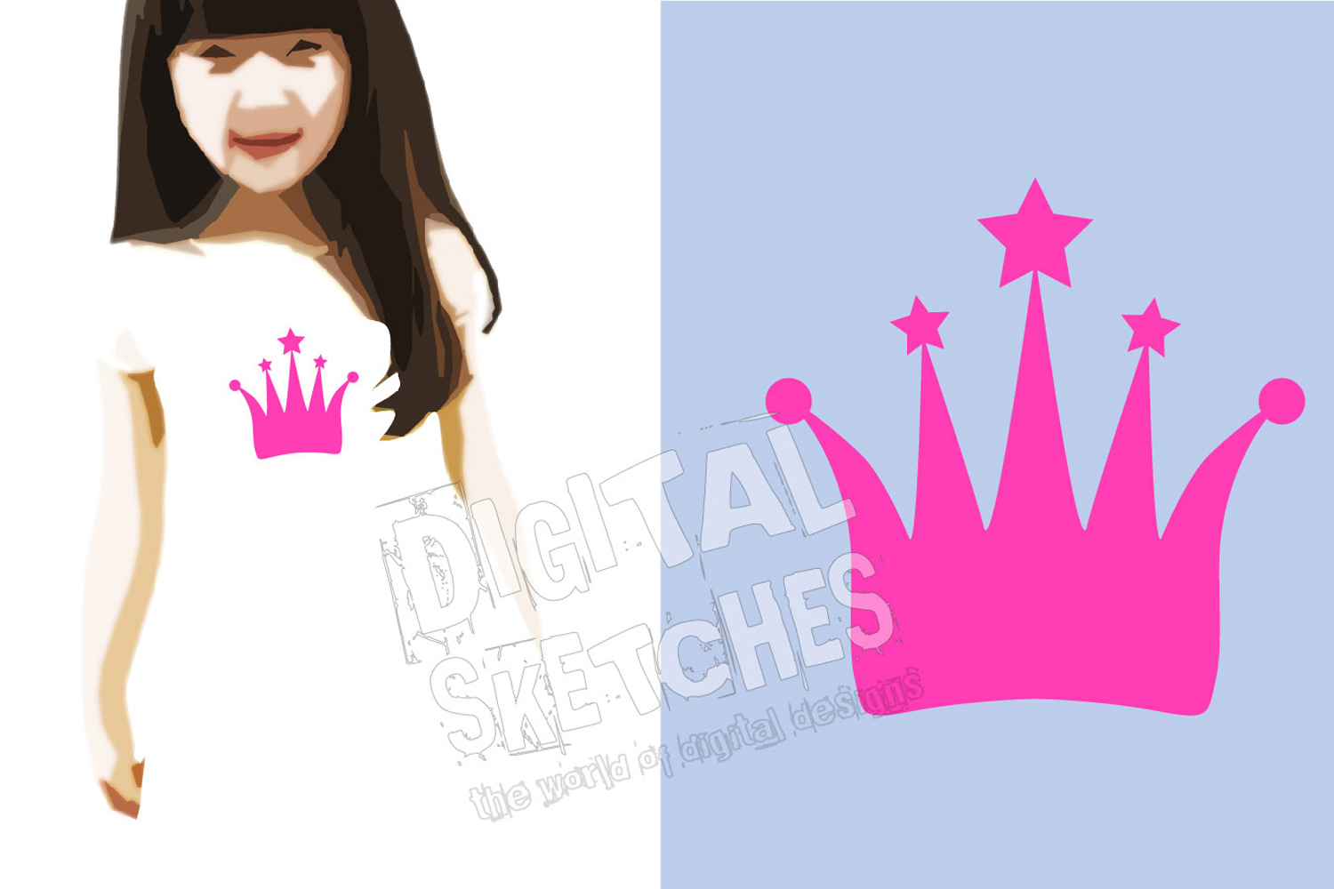 Crown Princess Cut File Vector Graphics Illustration example image 2