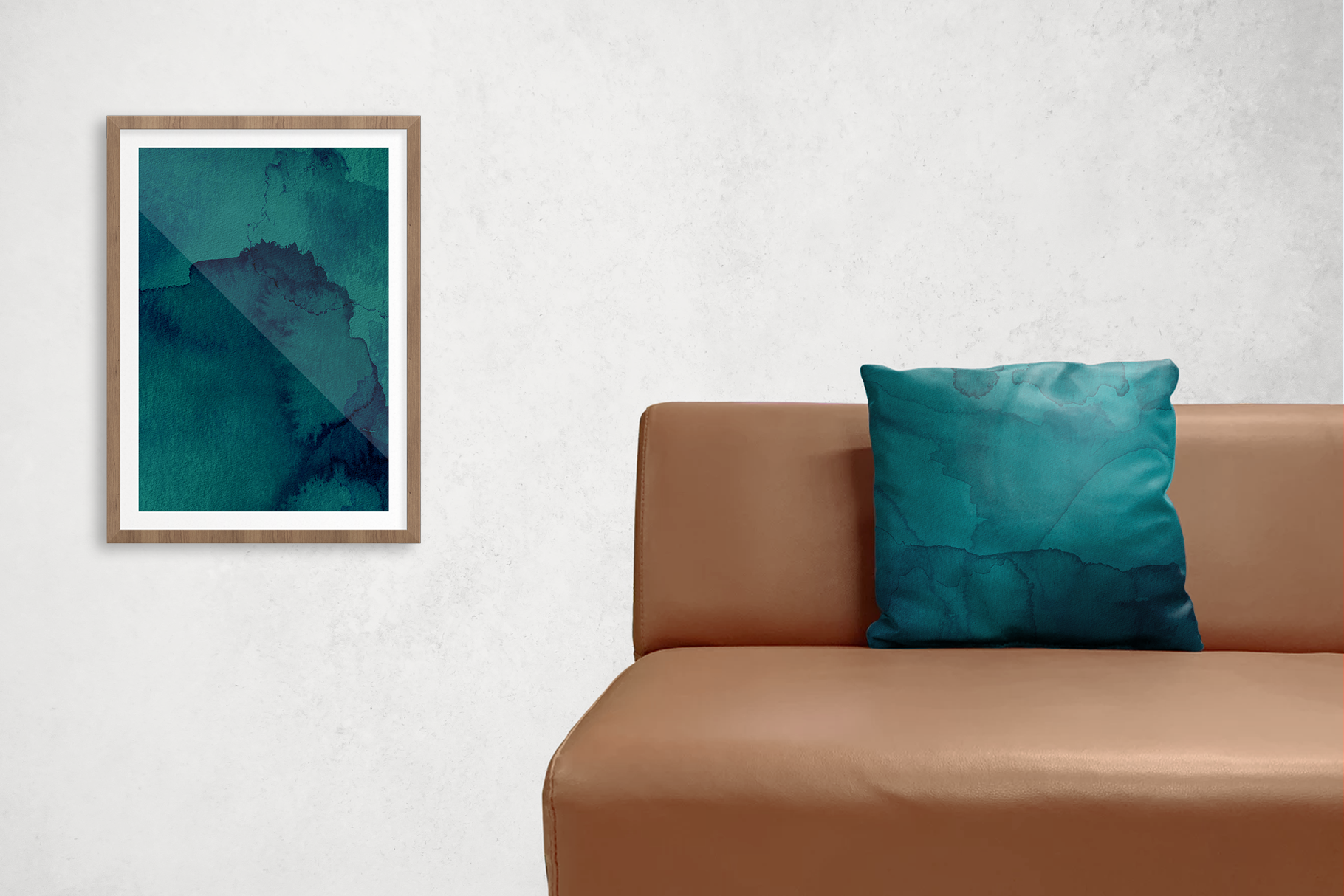 Ocean Blue Watercolor Textures | 6 Pack example image 3