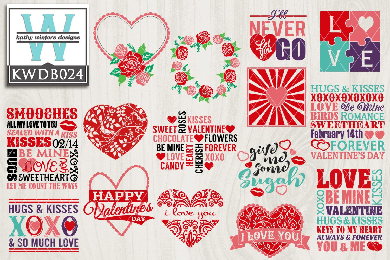 BUNDLED Valentines Cutting Files KWDB024 example image 1
