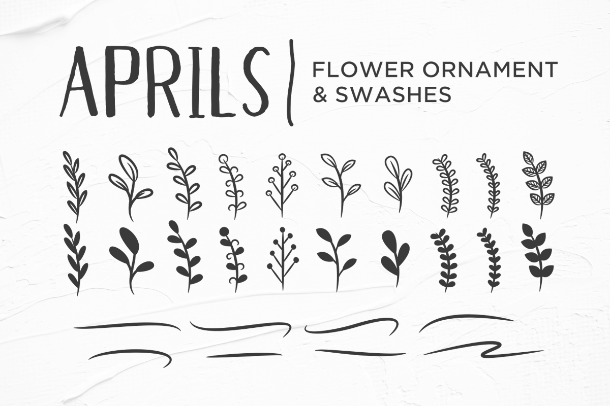 Aprils Sans Handdrawn Font example image 6