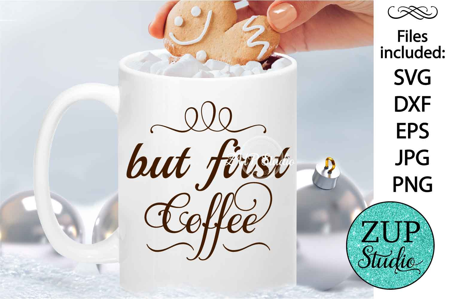 But first coffee cutting files svg 43 example image 1
