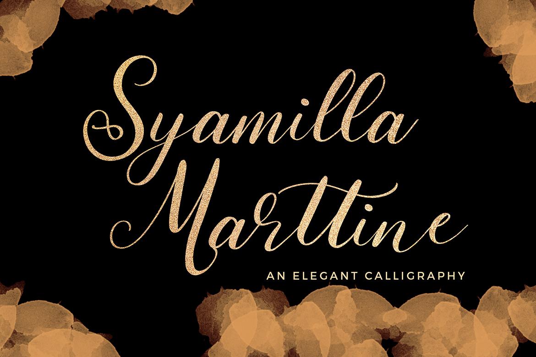 Syamilla Marttine Calligraphy Font example image 1