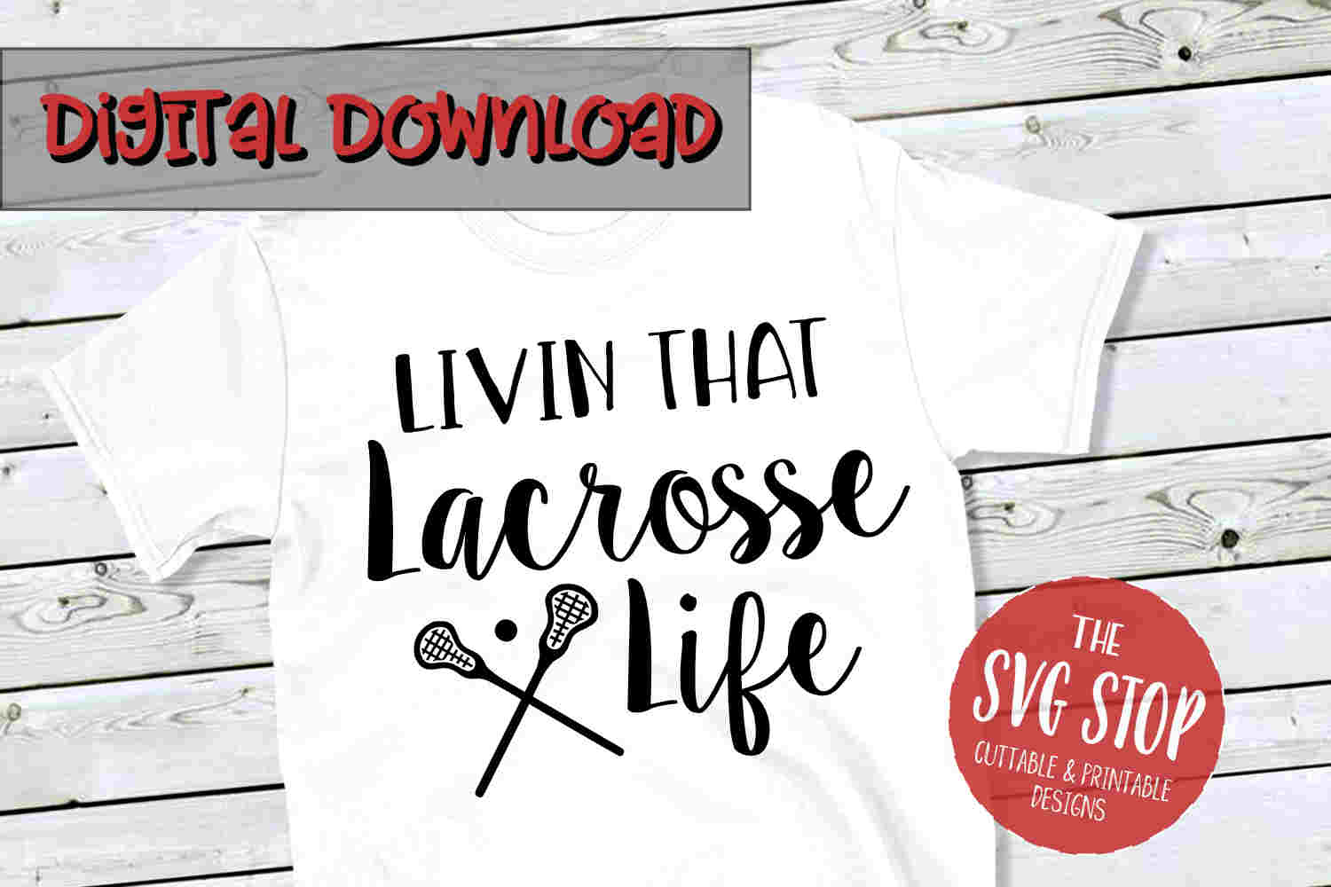 Lacrosse Life -SVG, PNG, DXF example image 1