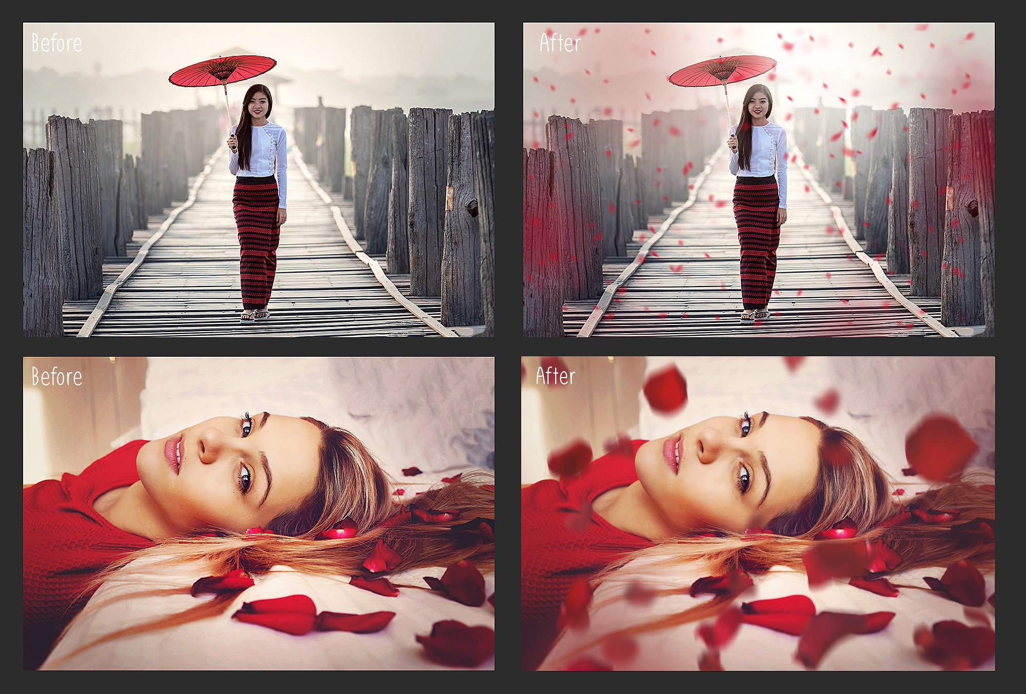 Falling Rose Petals Photo Overlays example image 7