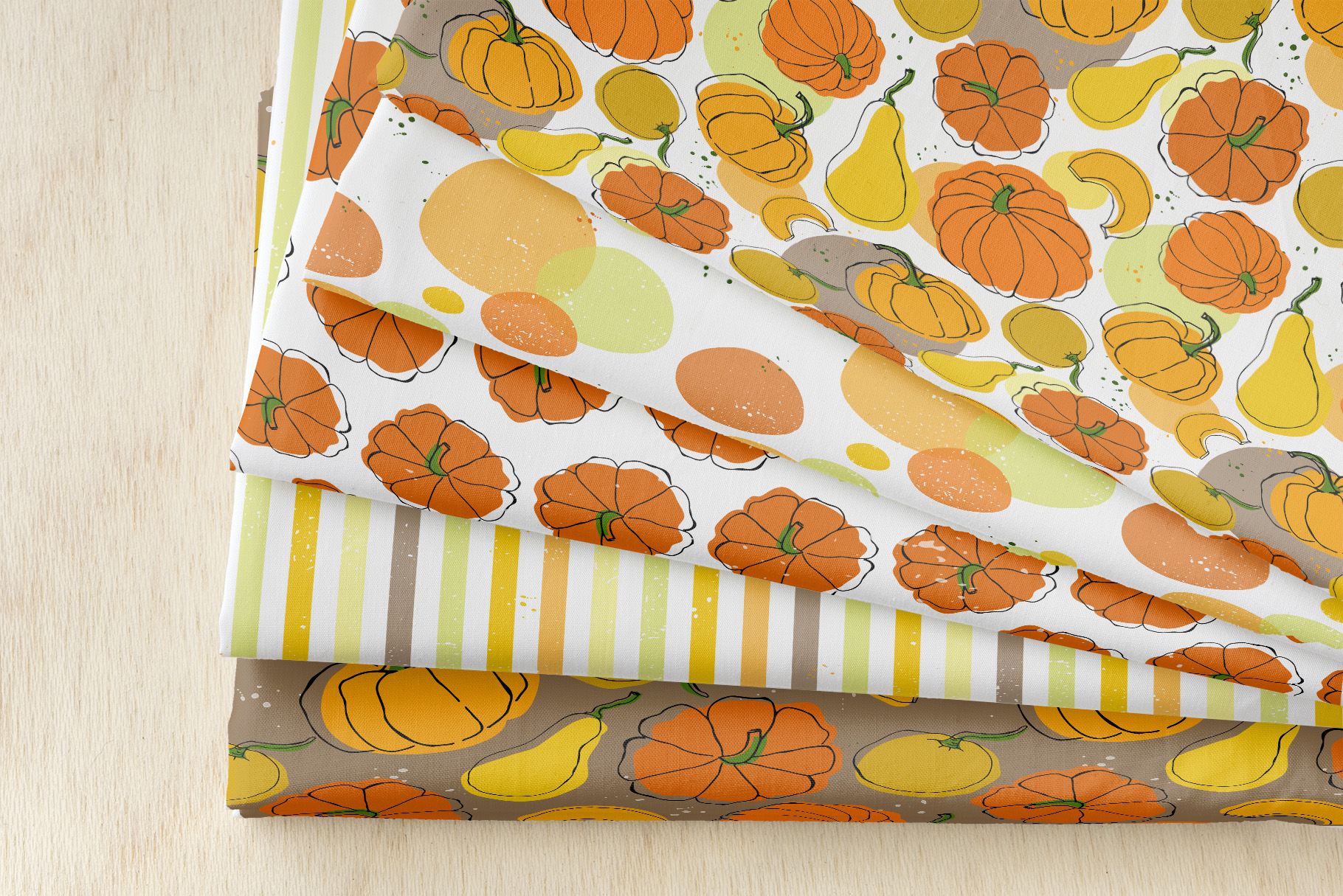 Vector patterns with pumkins example image 3