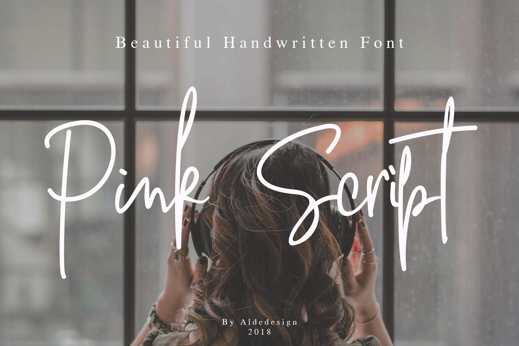 Pink Script - Beautiful Signature Font example image 16