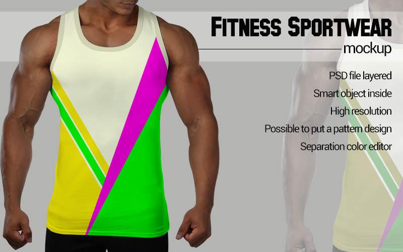Black man Fitness Mockup example image 3
