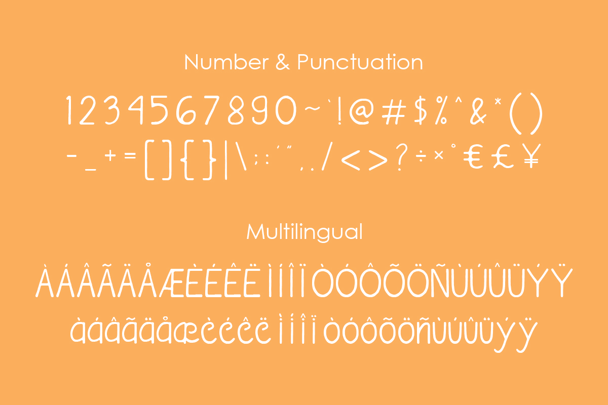 handavia font example image 3