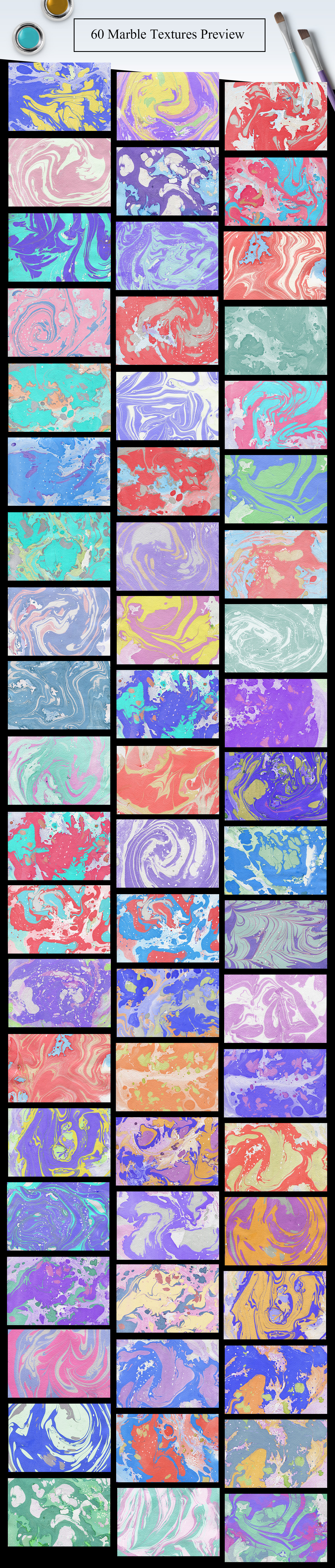 60 Marble Paper Textures example image 2