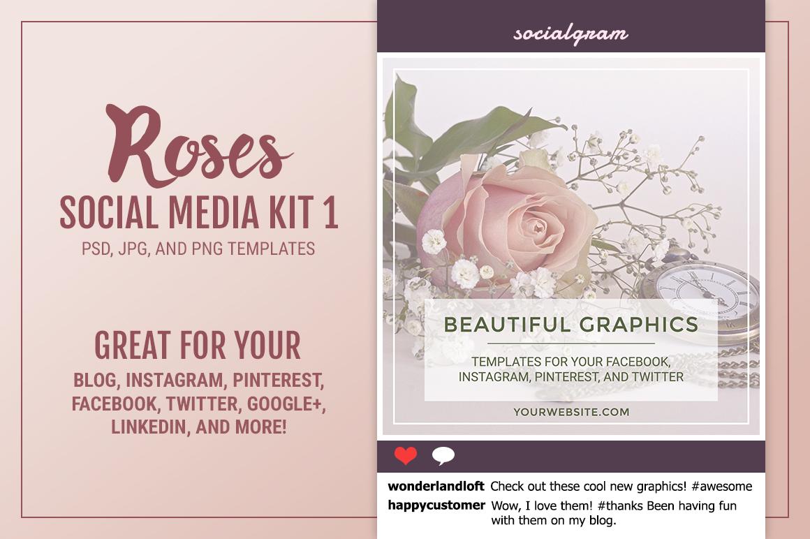 Roses Social Media Kit 1 example image 1