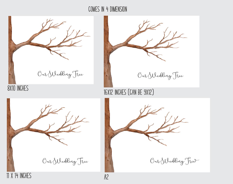 Printable Wedding Or Shower Fingerprint Tree And Wreath