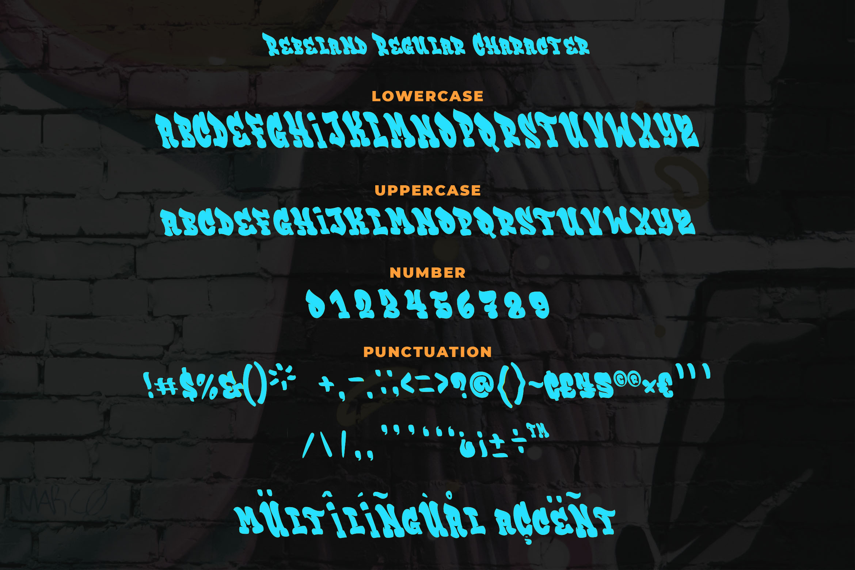 Rebeland Graffiti Font example image 6