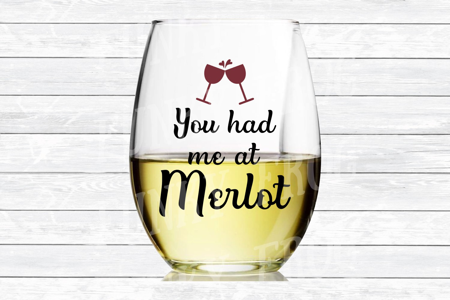 You Had Me At Merlot Wine SVG Cut File for Crafters example image 3