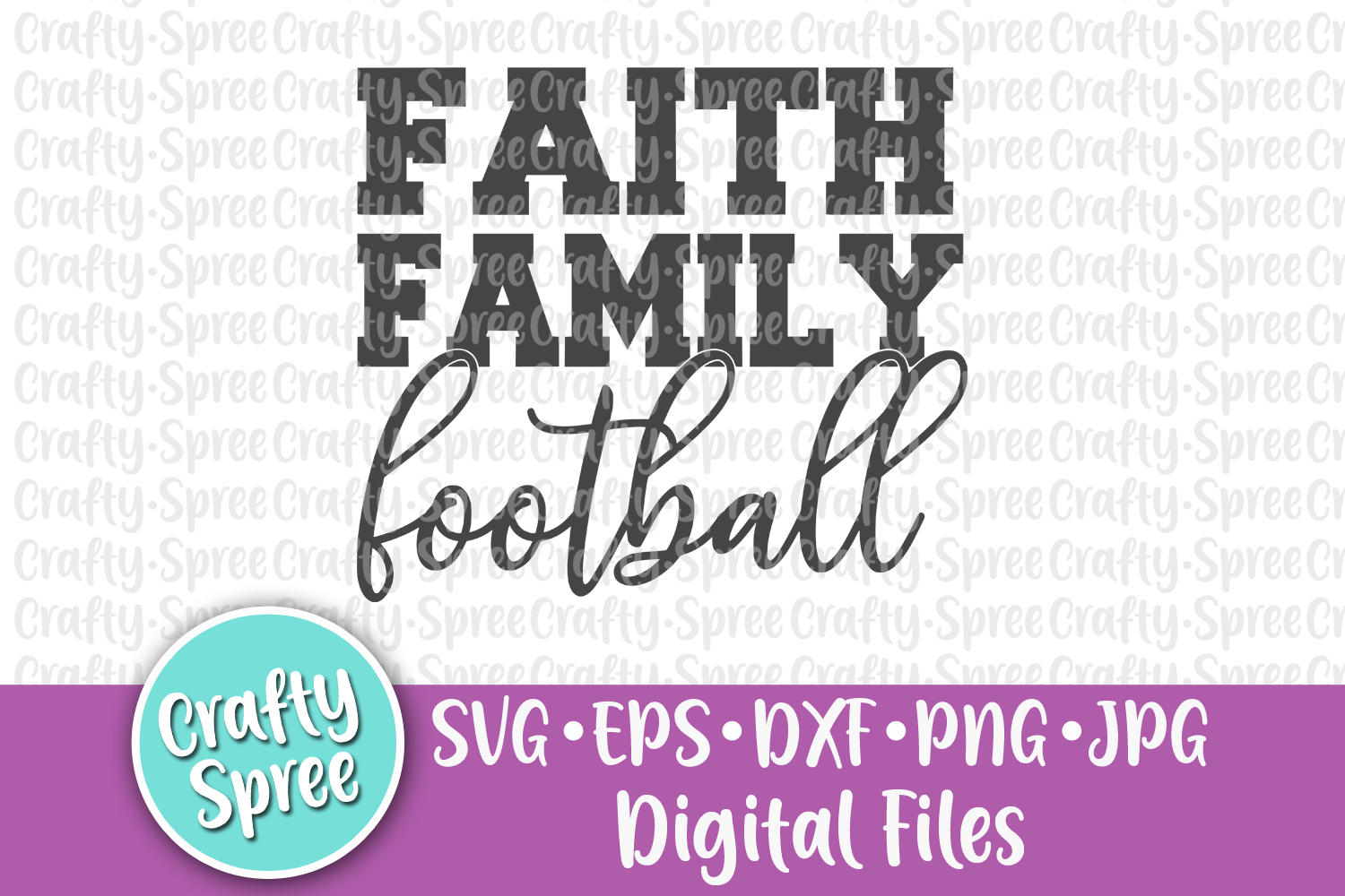 Faith Family Football SVG PNG DXF Cut File example image 2