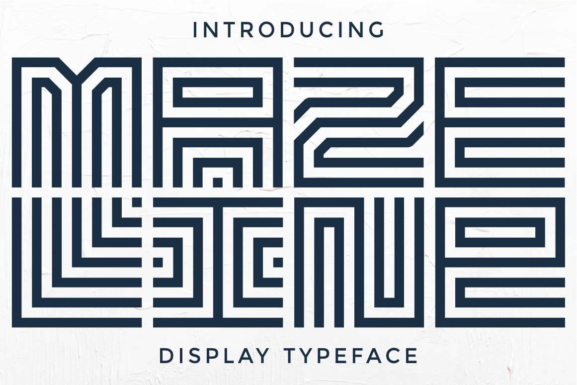 Maze Line Typeface example image 1