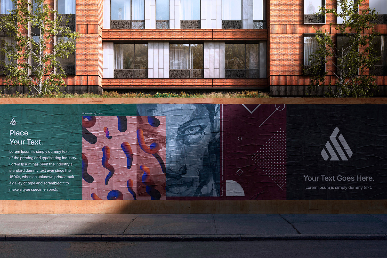 12 Realistic Mural Street Mockup - PSD example image 29