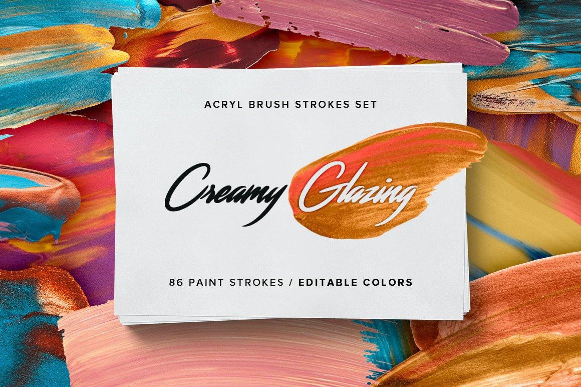 Creamy Glazing - Acryl Brush Strokes example image 1