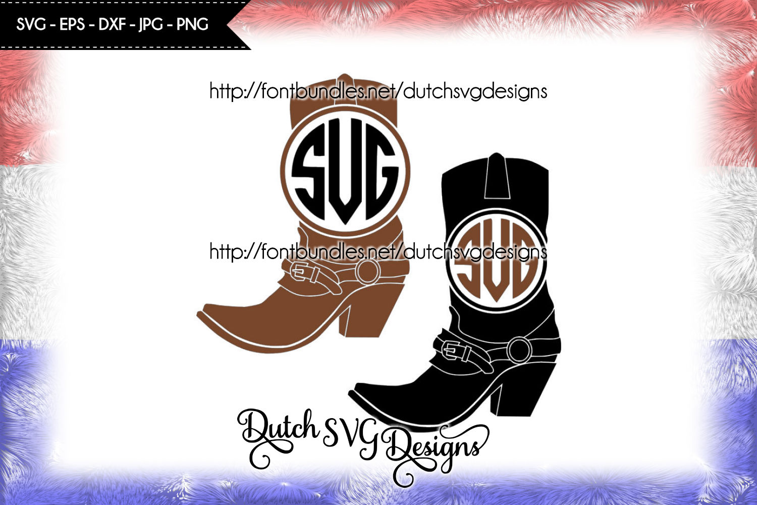Monogram boots cutting files example image 1