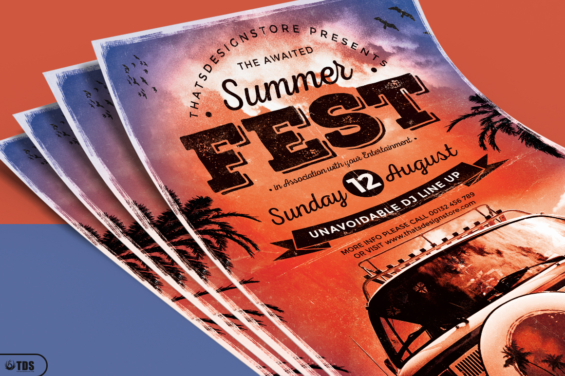 Summer Fest Flyer Template V2 example image 3