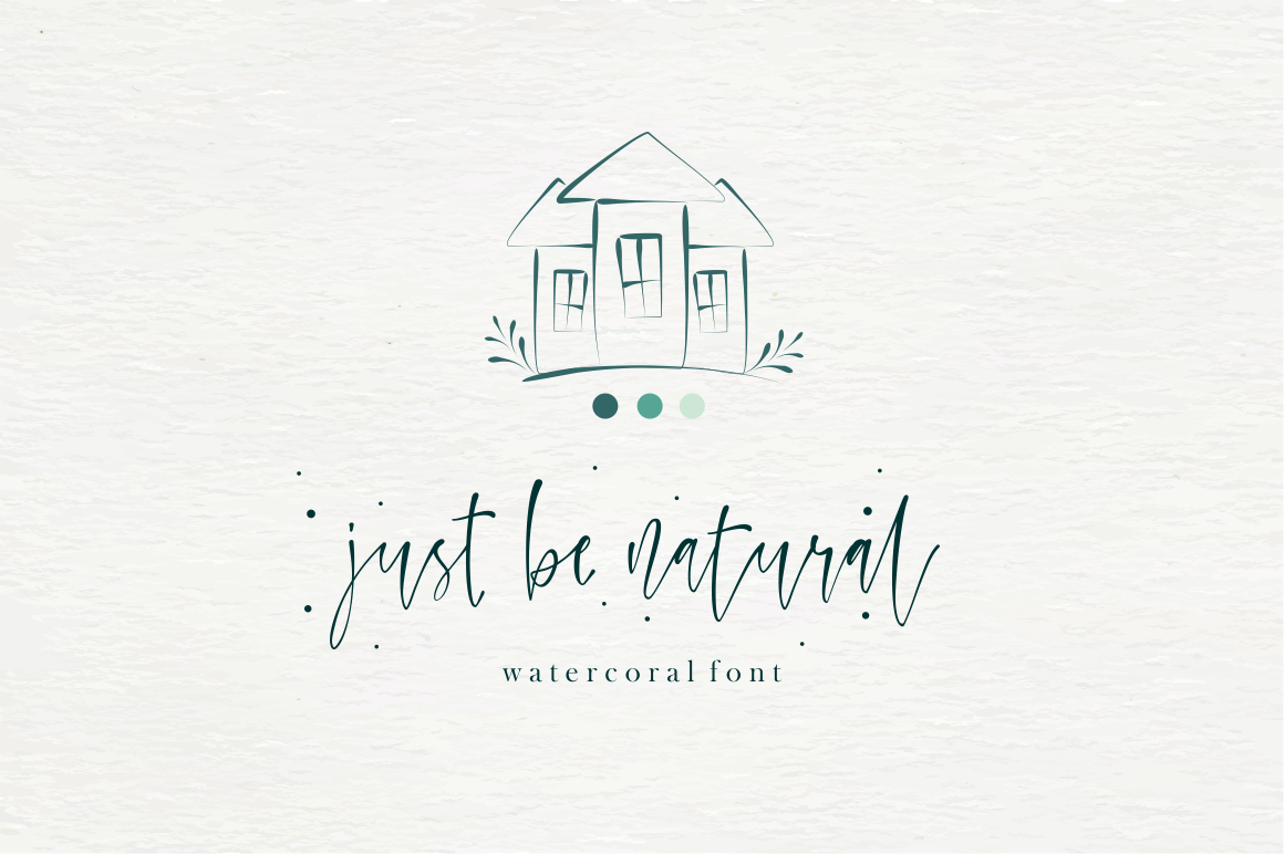 Watercoral // Natural Script Font example image 4