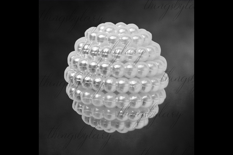 100 Pearl Pomander Digital Clip Art Jewelry Pearl Ball Image example image 7