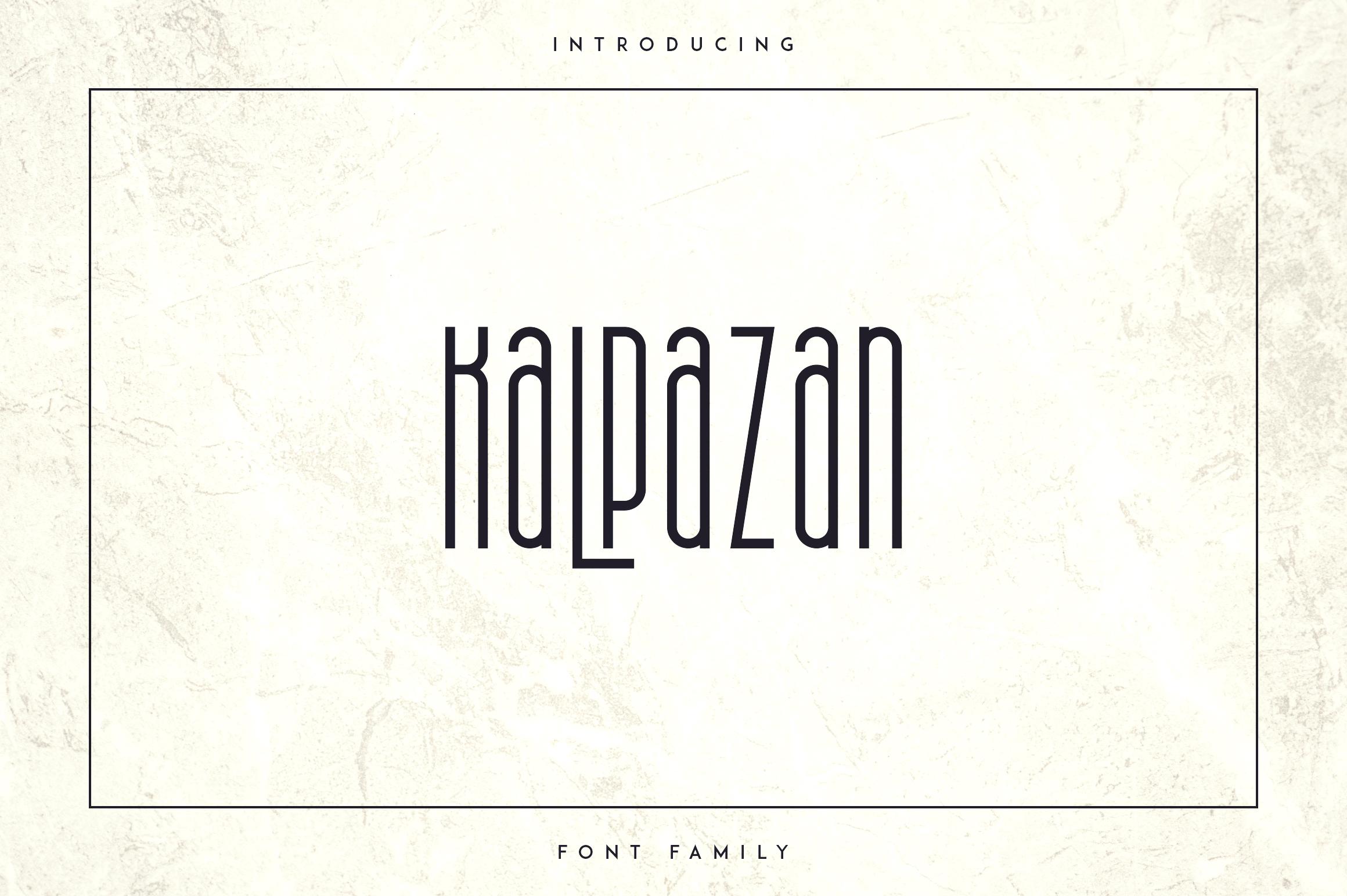 Kalpazan font family example image 1